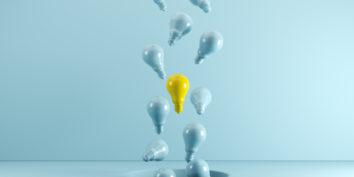 Lightbulbs representing ideas