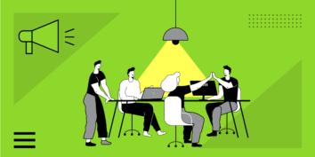 Team meeting graphics