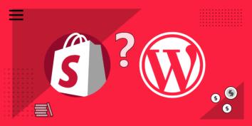 Shopify vs wordpress logos