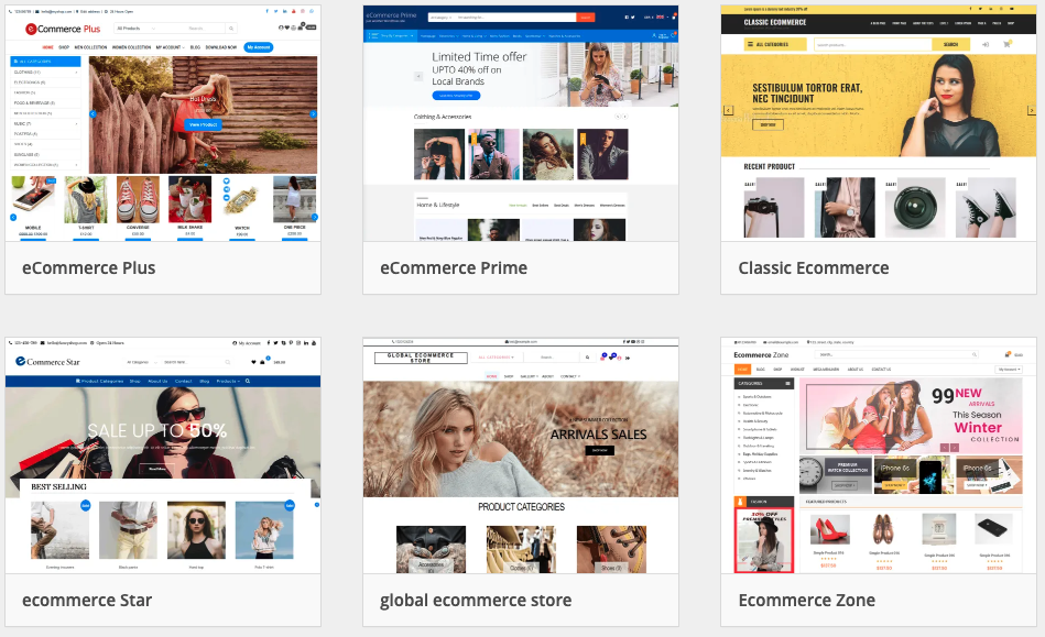 wordpress themes ecommerce