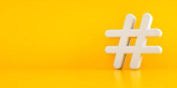 minimalist hashtag