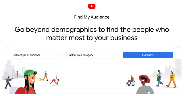 Google's Find My Audience tool for YouTube