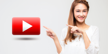 Pointing at YouTube Logo