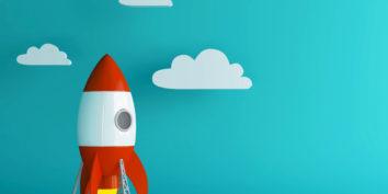 rocketship illustration